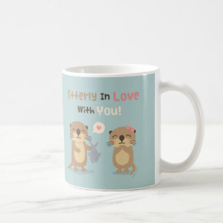 Otterly lindo en amor con usted taza del