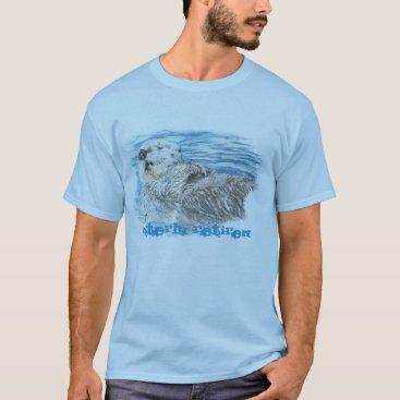 countrymousestudio Otterly Retired Retirement Humorous Cute Otter T-Shirt