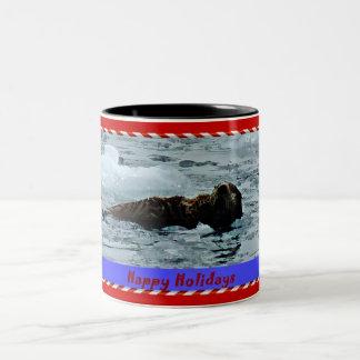 Otterly Terrific Sea otter holiday mug