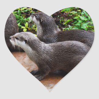 Otterly To Cute, Otter Heart Stickers