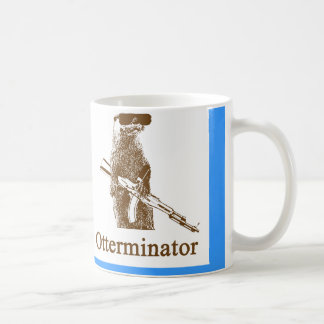 otterminator, otterminator classic white coffee mug