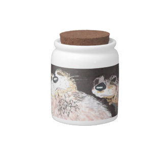 Otters Candy Jar
