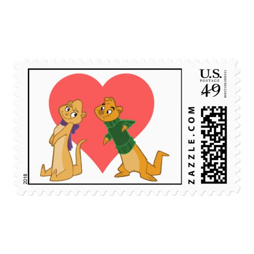 Otters in Love Postage