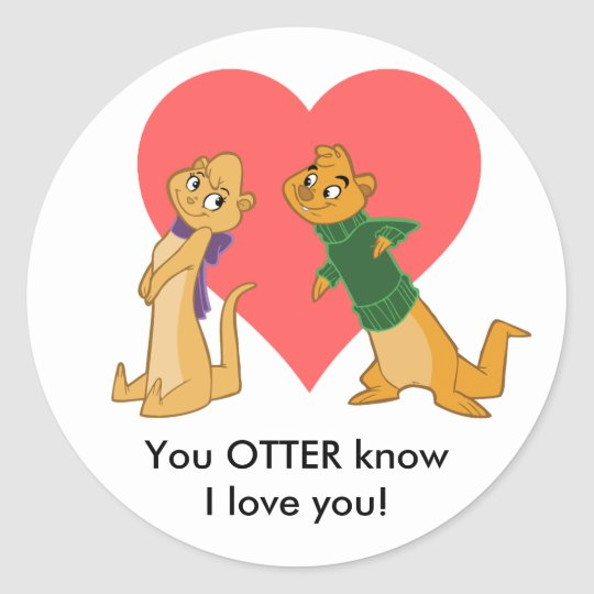 Otters in Love Sticker