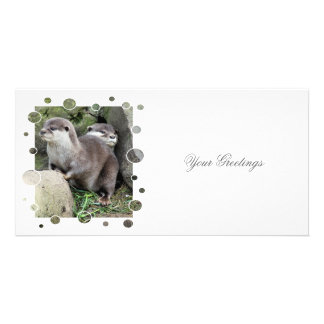 OTTERS PERSONALIZED PHOTO CARD