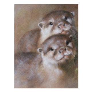 Otters Postcard