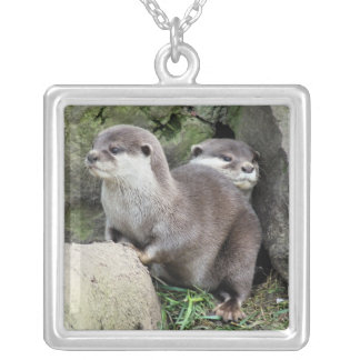 OTTERS SILVER PLATED NECKLACE