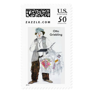 Otto Griebling Clown Postage Stamps