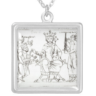 Otto I Submitting to Berenger II Silver Plated Necklace