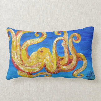 Otto - Octopus collage Lumbar Pillow