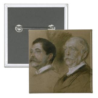 Otto von Bismarck and his Son Herbert Button