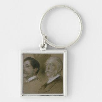 Otto von Bismarck and his Son Herbert Keychain