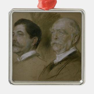 Otto von Bismarck and his Son Herbert Metal Ornament