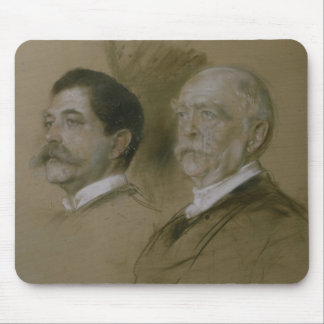 Otto von Bismarck and his Son Herbert Mouse Pad