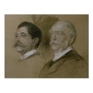 Otto von Bismarck and his Son Herbert Postcard