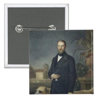 Otto von Bismarck, c.1850 Pin Cuadrado