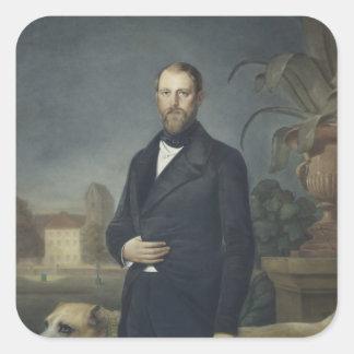 Otto von Bismarck, c.1850 Square Sticker