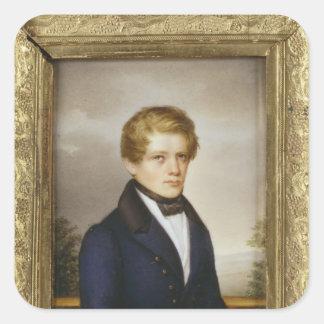 Otto von Bismarck como estudiante, 1833 Pegatina Cuadrada