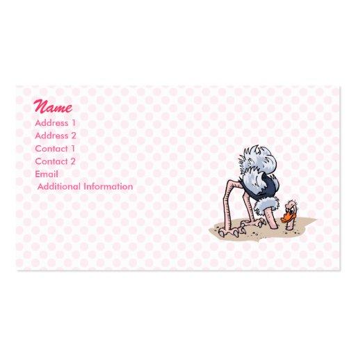 Otto von Ostrich Business Card Template