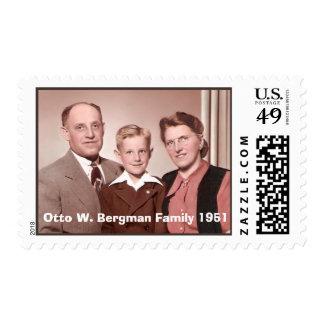 Otto W. Bergman Family Postage