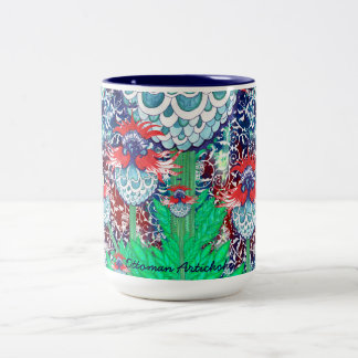 Ottoman Artichoke Two-Tone Coffee Mug