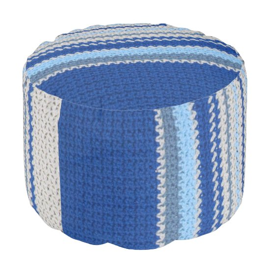 Ottoman - Blue Stripe Crochet pattern