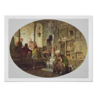 Ottoman Coffee House, 1862 (colour litho) Poster