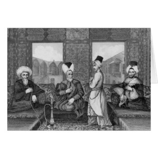 Ottoman Dignitaries Card