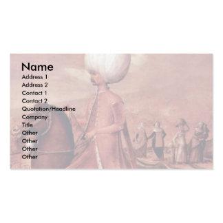 Ottoman Dignitaries On Horseback Business Card Templates