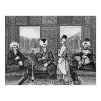 Ottoman Dignitaries Postcard