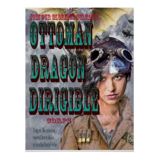 ottoman dragon dirigible corps print