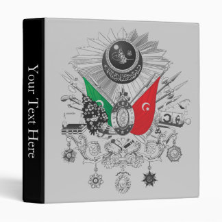 Ottoman Empire Grayscale Coat Of Arms 3 Ring Binder