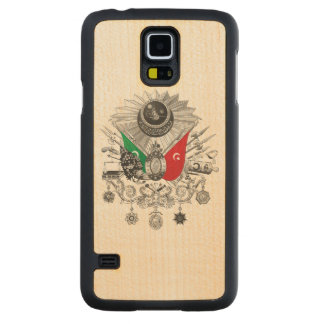 Ottoman Empire Grayscale Coat Of Arms Carved® Maple Galaxy S5 Case