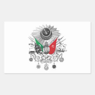 Ottoman Empire Grayscale Coat Of Arms Rectangular Sticker