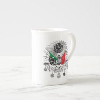Ottoman Empire Grayscale Coat Of Arms Tea Cup