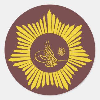 Ottoman Empire Tughra Calligraphy Classic Round Sticker