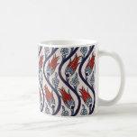 Ottoman Empire Tulip Pattern Coffee Mugs