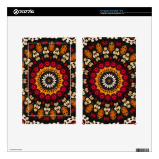 OTTOMAN Era Colorful Turkish Floral Textile Decal For Kindle Fire