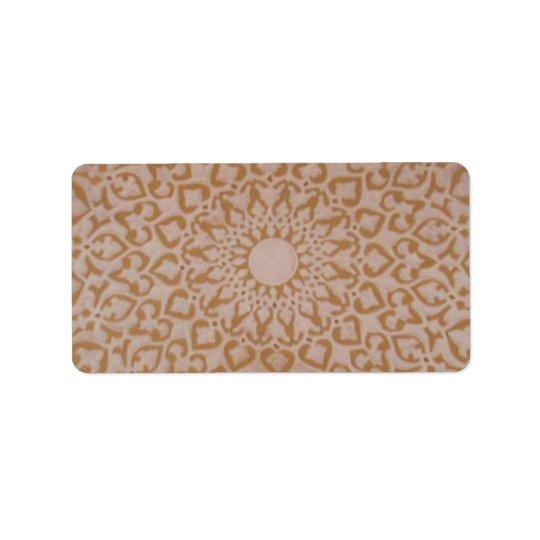 Ottoman Islamic art and geometric design. Label