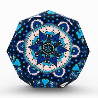 Ottoman  Islamic Tile Design With Geometry Acrylic Award