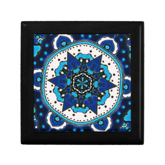 Ottoman  Islamic Tile Design With Geometry Gift Box