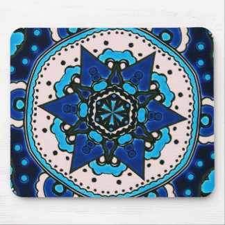 Ottoman  Islamic Tile Design With Geometry Mouse Pad