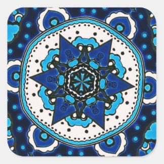 Ottoman  Islamic Tile Design With Geometry Square Sticker
