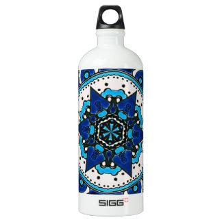 Ottoman  Islamic Tile Design With Geometry Water Bottle
