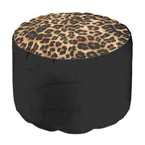 Ottoman Leopard Pouf