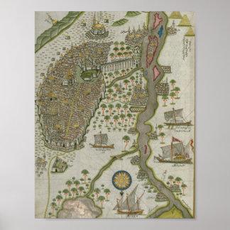 Ottoman Map of Egypt by Peri Reis Poster