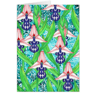 Ottoman Orchids Card Greeting Card