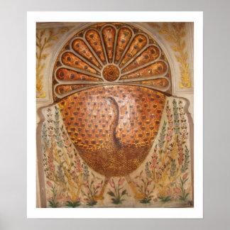 ottoman period golden peacock poster