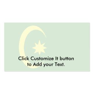 Ottoman Religious, religious flag Business Card Template