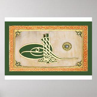 Ottoman sultan tughra Poster